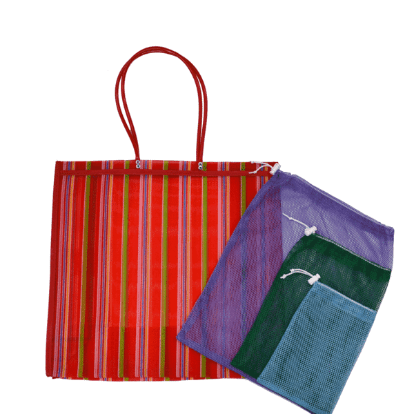 Farmer's Market Pack in Red- Large - Josephine Alexander Collective