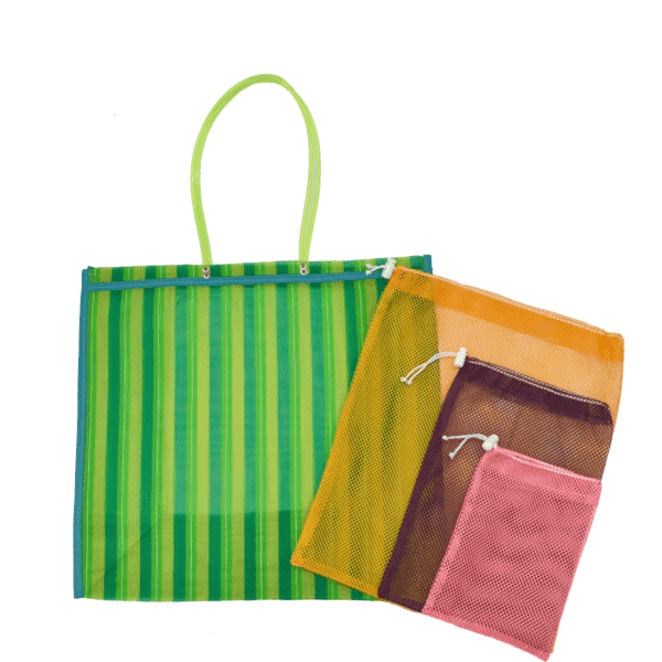 Farmer's Market Pack in Green- Large