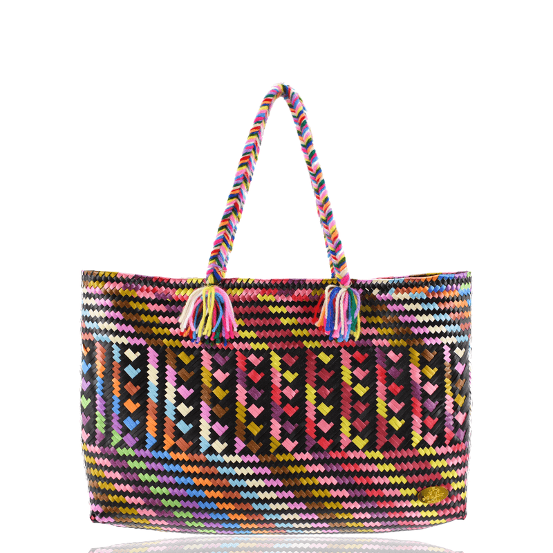 The Nicky Bag in Rainbow Hearts