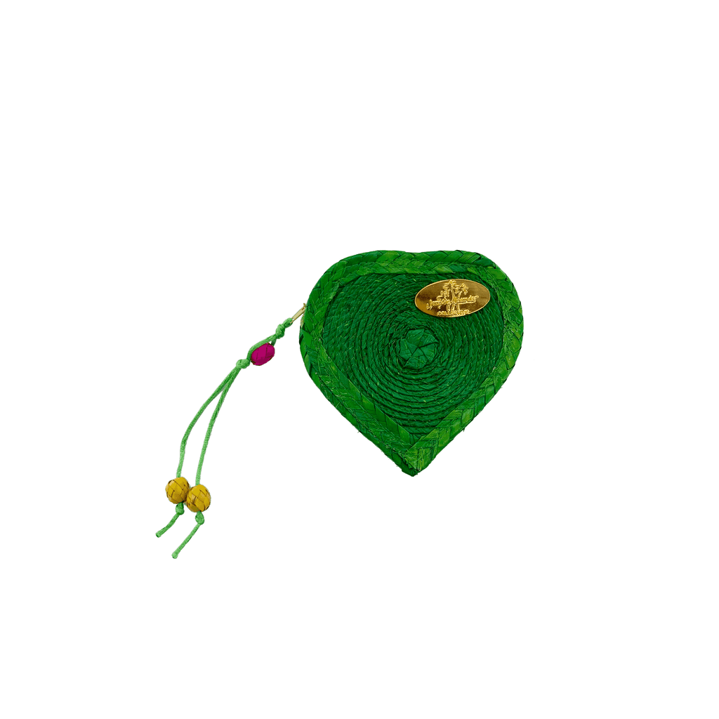 Love Heart Coin Purse in Green