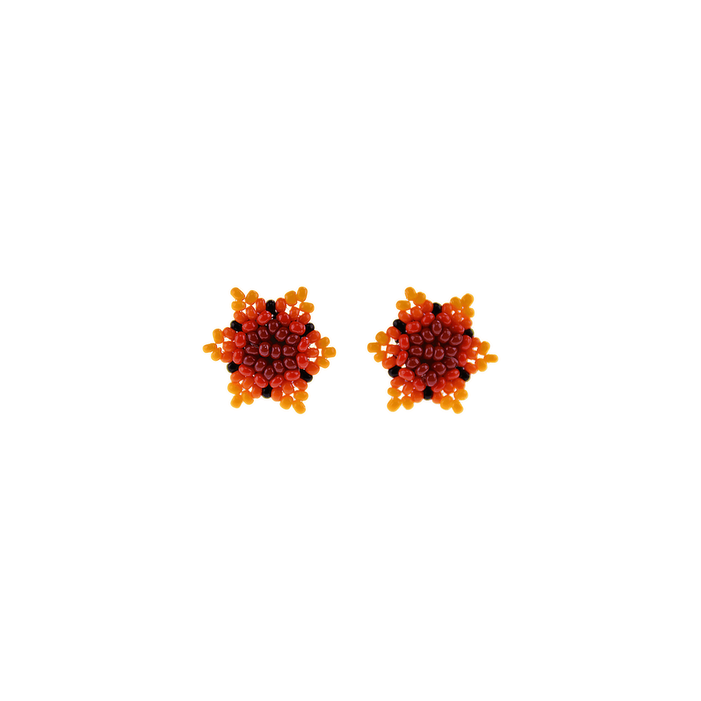 Estrella Stud Earrings in Shades of Orange - Josephine Alexander Collective