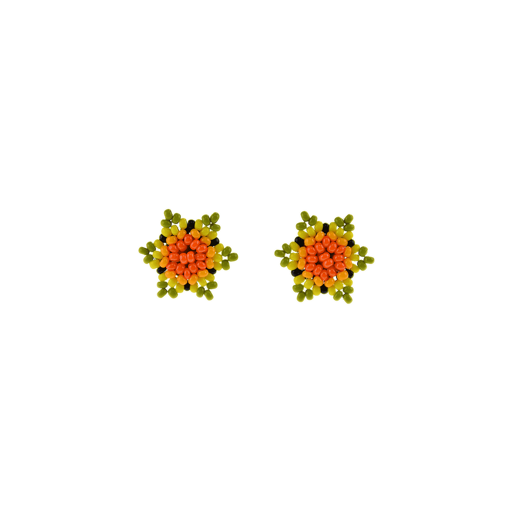 Estrella Stud Earrings in Orange Lime - Josephine Alexander Collective