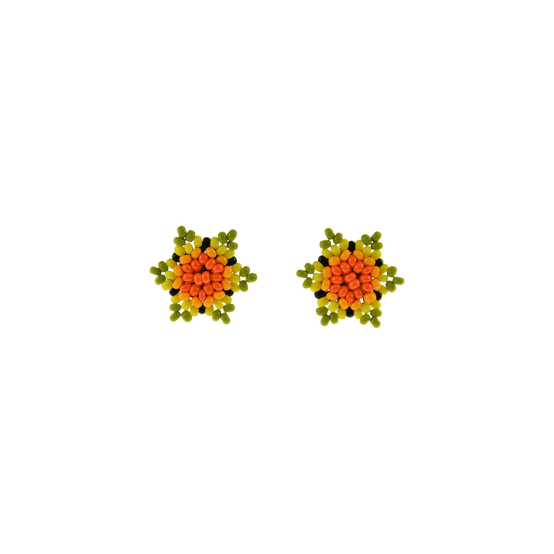 Estrella Stud Earrings in Orange Lime