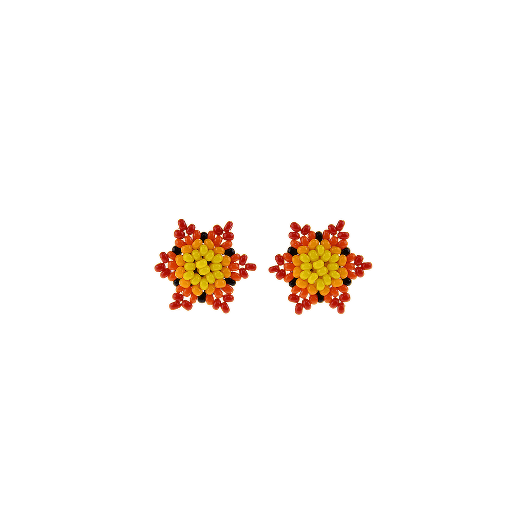 Estrella Stud Earrings in Hot Flame - Josephine Alexander Collective