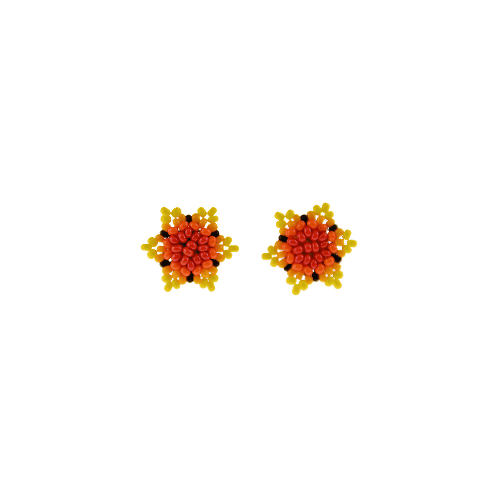 Estrella Stud Earrings in Hot Sun - Josephine Alexander Collective