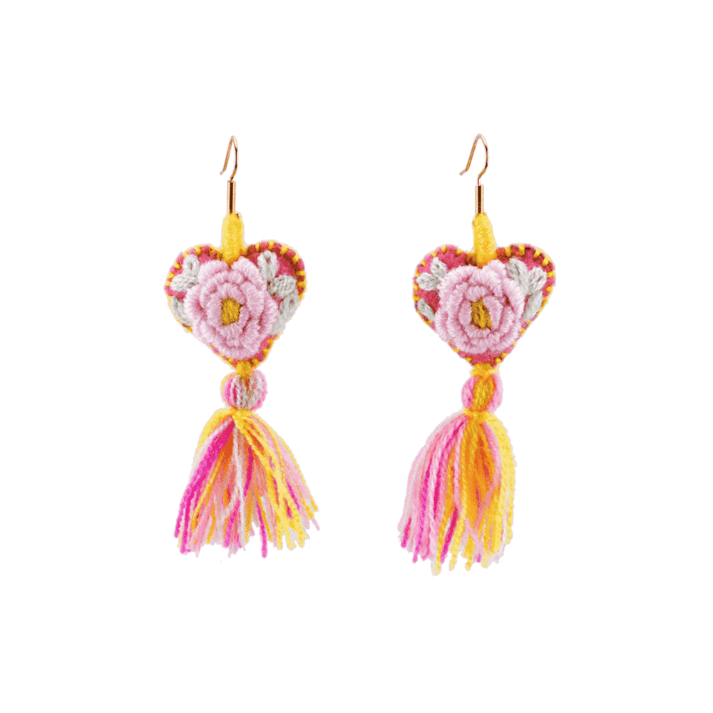 The Love-ly Earrings in Proper Rose- Medium - Josephine Alexander Collective