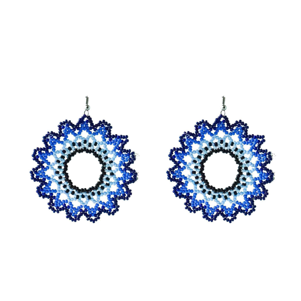 Sunburst Earrings in Royal - Josephine Alexander Collective