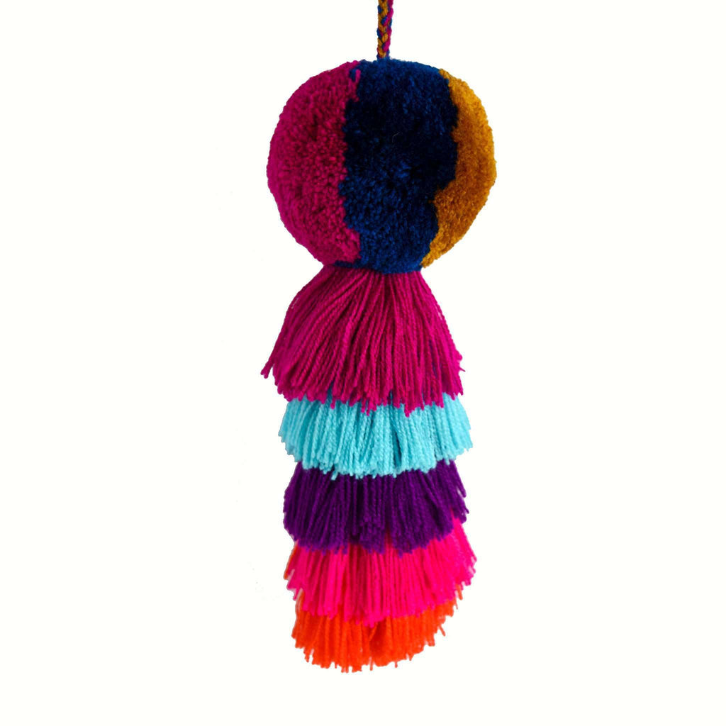 Large Pom Tassel in Goose Berry