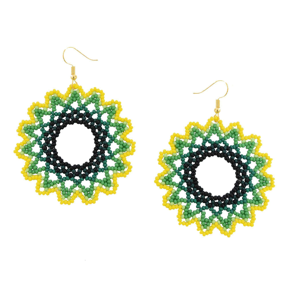 Sunburst Earrings in Lemon-Lime - Josephine Alexander Collective