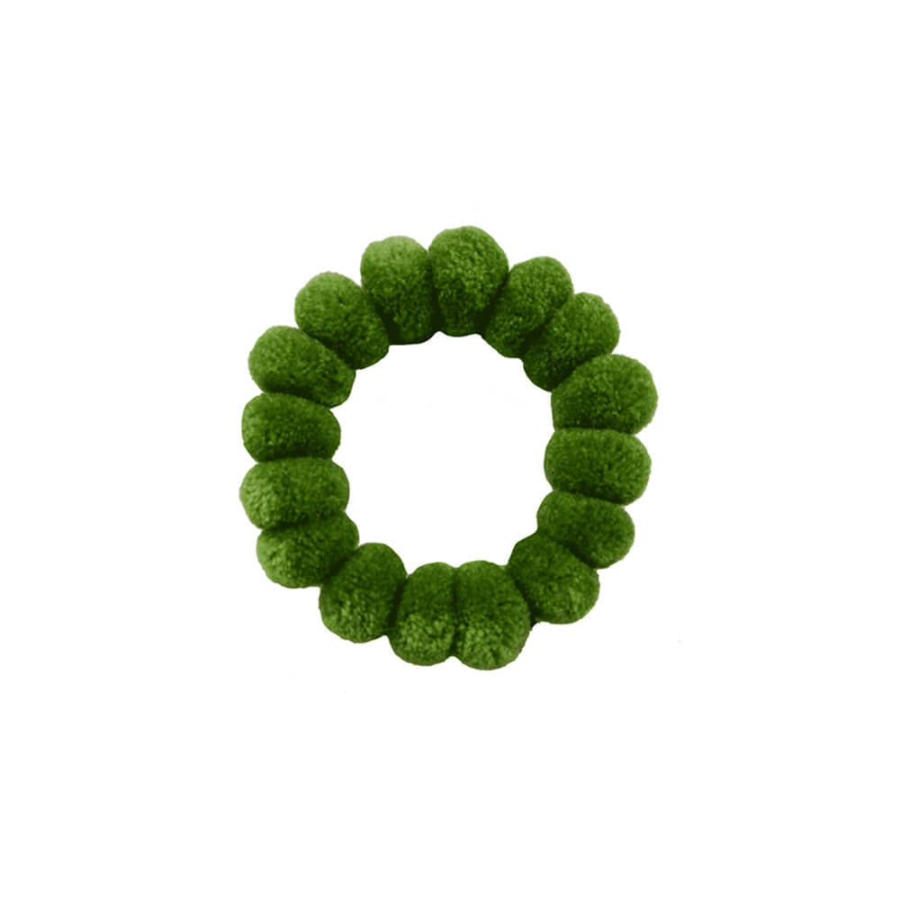 Pom Scrunchies in Lime - Josephine Alexander Collective