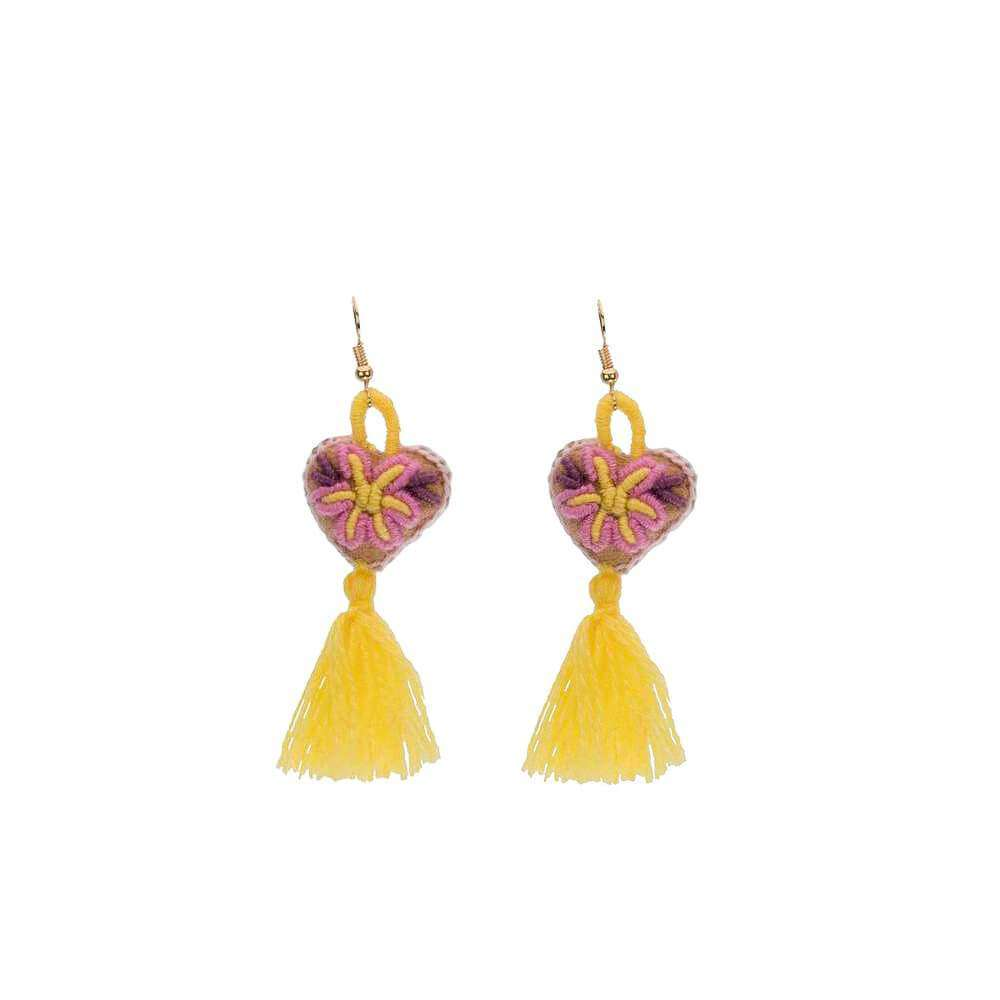 The Love-ly Earrings in Buttercup- Small