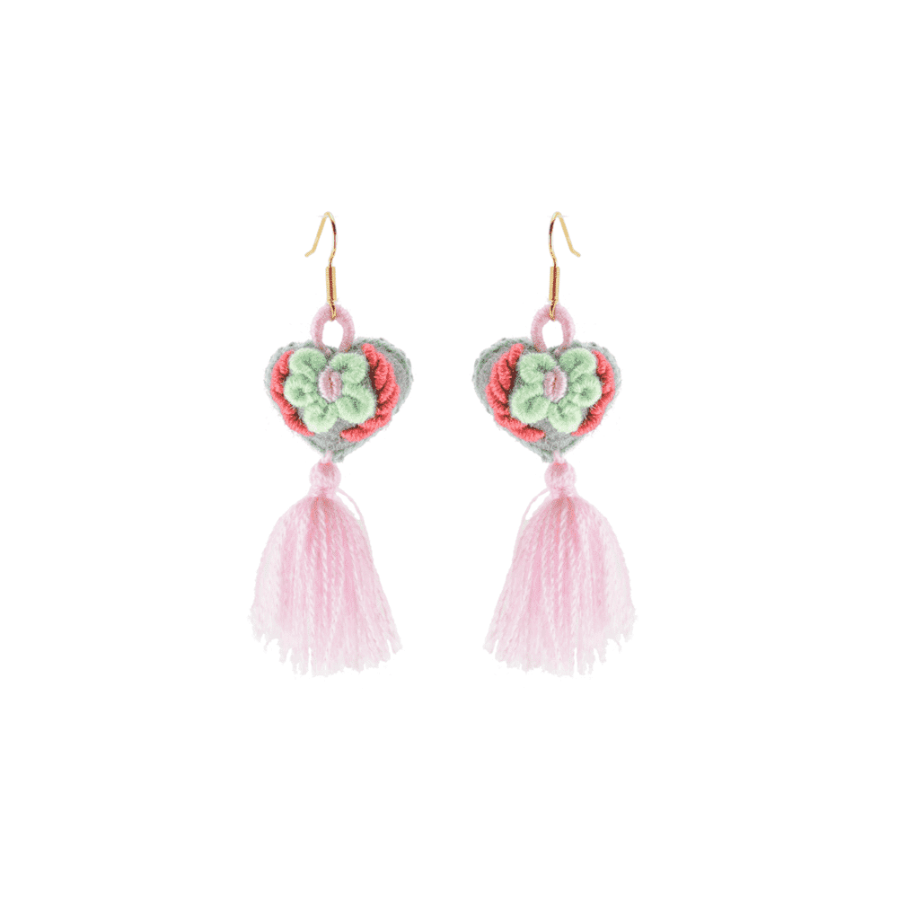 The Love-ly Earrings in Pink Royale- Small - Josephine Alexander Collective