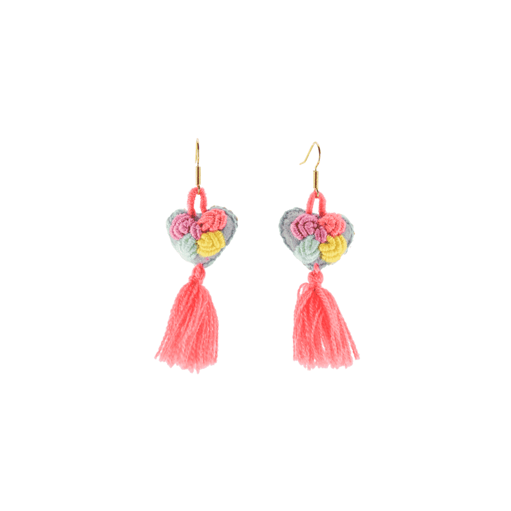 The Love-ly Earrings in Coral Me Happy- Small - Josephine Alexander Collective