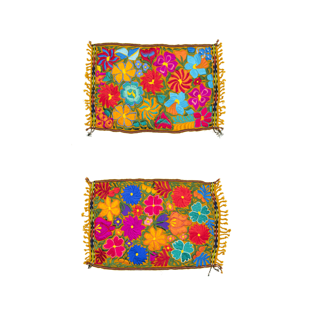 Embroidered Placemats - Set of 2 - Gold - Josephine Alexander Collective