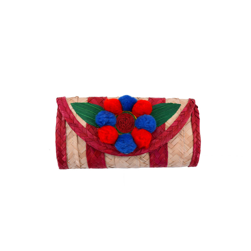 Melissa Pom Wallet in Red and Blue - Josephine Alexander Collective