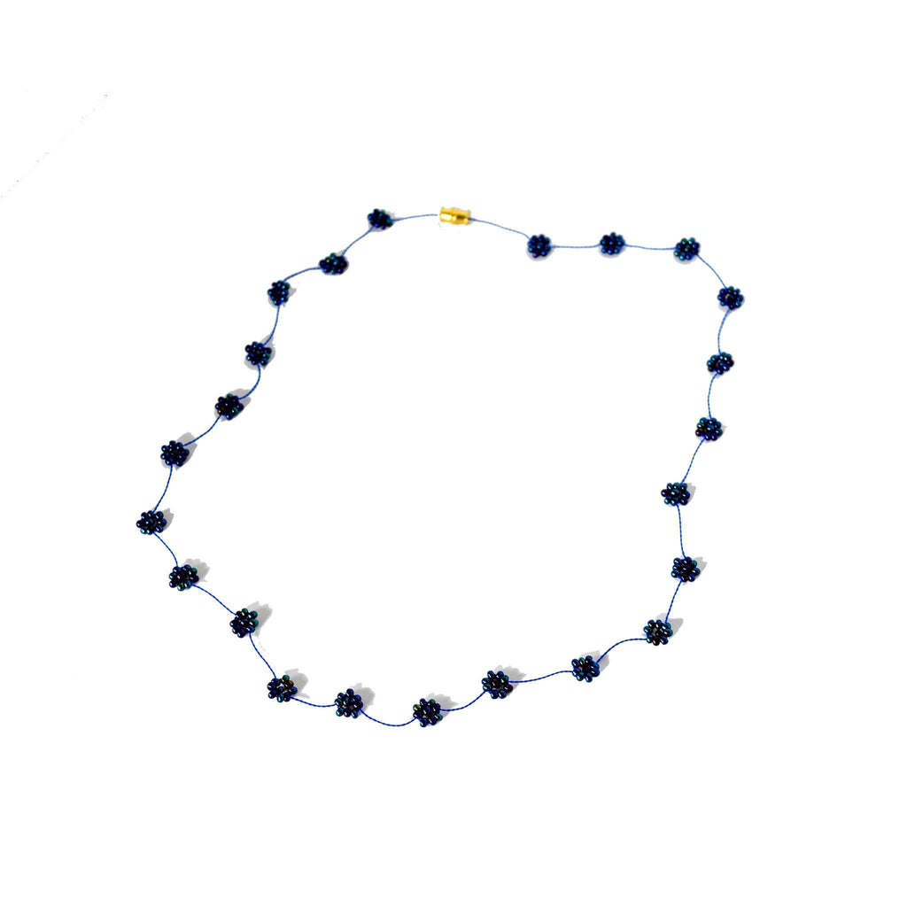 Daisy Chain Necklace in Midnight Sky