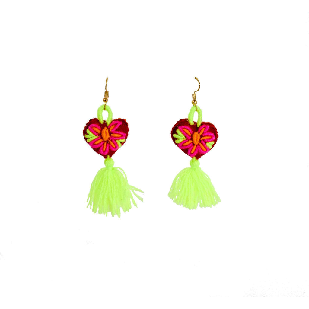 The Love-ly Earrings in Neon Yellow- Small - Josephine Alexander Collective