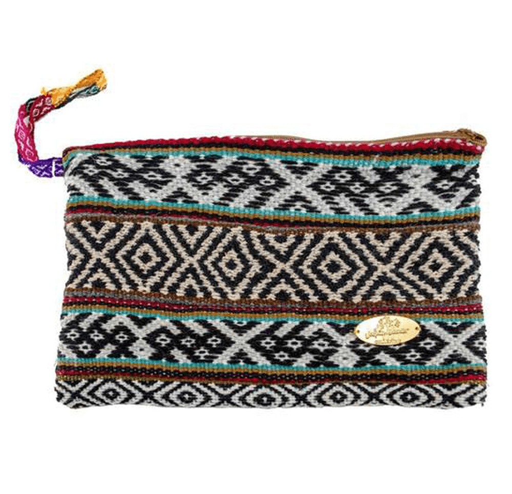 Iliana Large Woven Clutch in Thin Mint - Josephine Alexander Collective