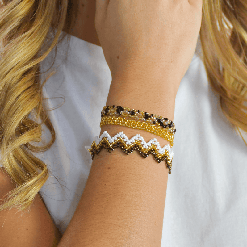 Bracelet Stack in Golds - Josephine Alexander Collective