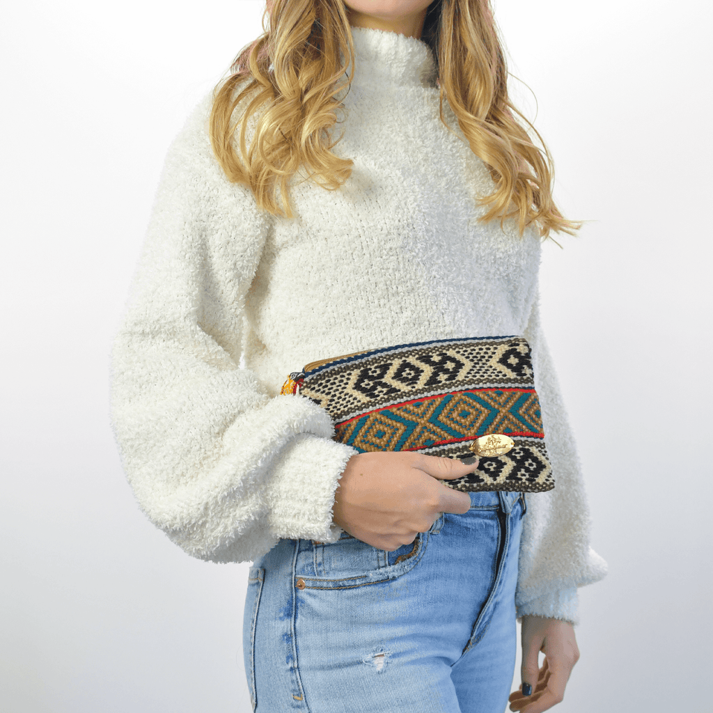 Iliana Small Woven Clutch # 4 - Josephine Alexander Collective