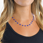 Daisy Chain Necklace in Royal Blue - Josephine Alexander Collective