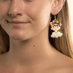 Frida Earrings in Light Blue - Josephine Alexander Collective
