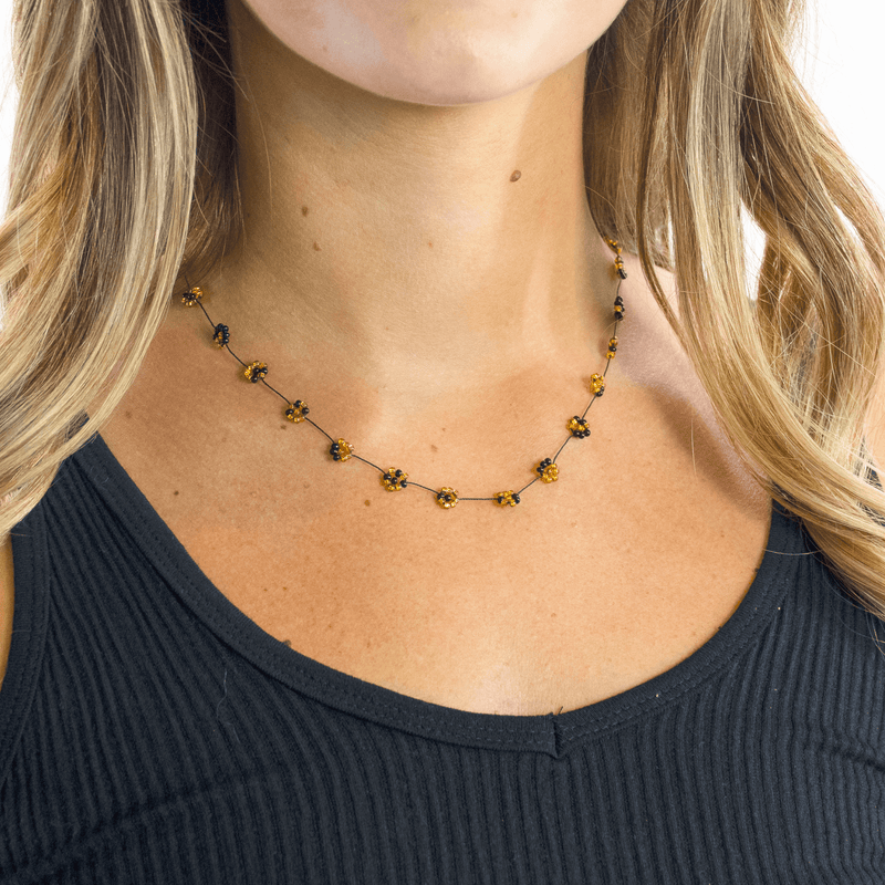 Daisy Chain Necklace in Leopard - Josephine Alexander Collective