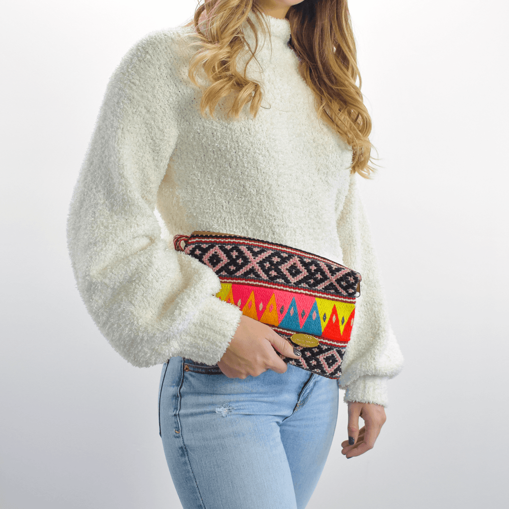 Iliana Large Woven Clutch # 6 - Josephine Alexander Collective