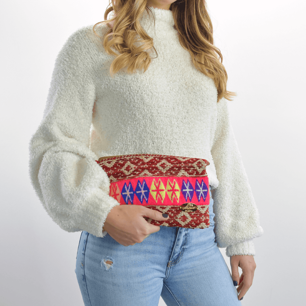 Iliana Medium Woven Clutch # 4 - Josephine Alexander Collective