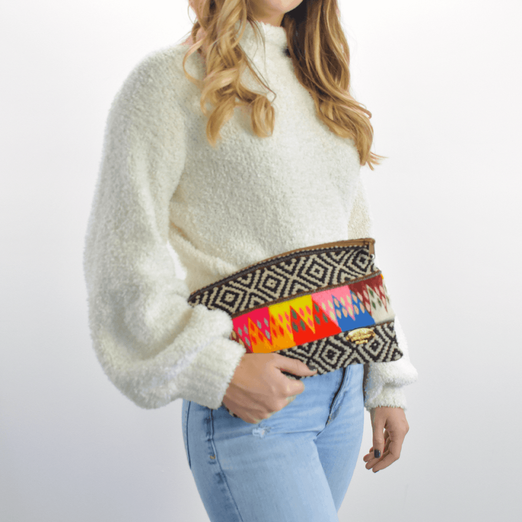 Iliana Large Woven Clutch # 2 - Josephine Alexander Collective
