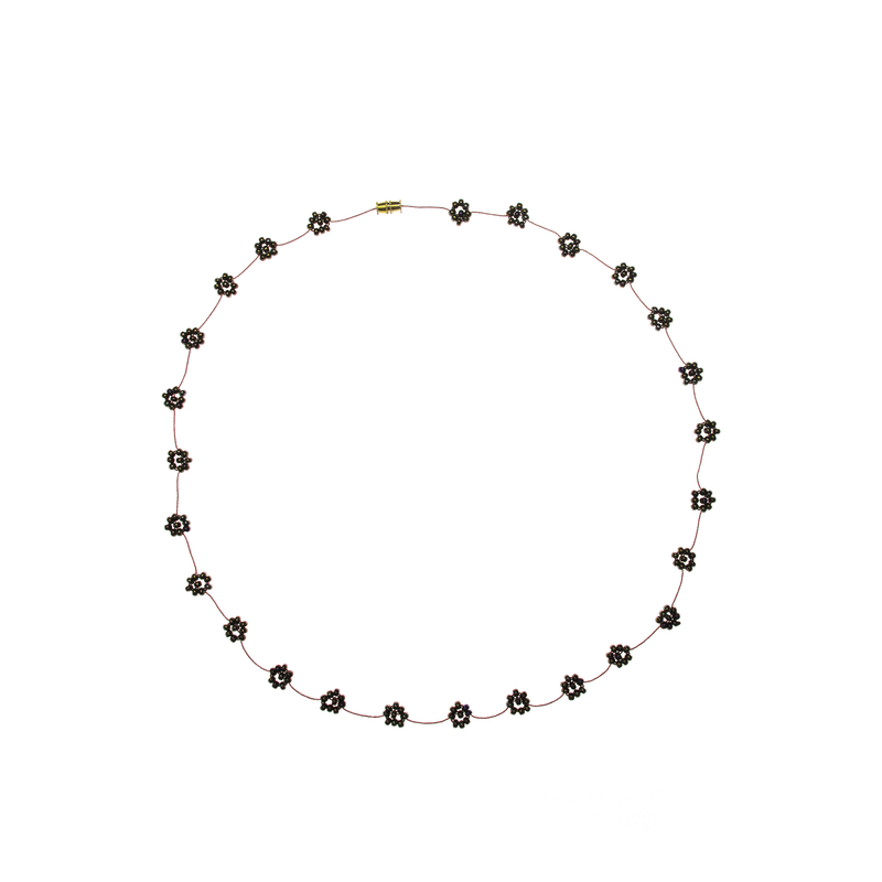 Daisy Chain Necklace in Copper - Josephine Alexander Collective