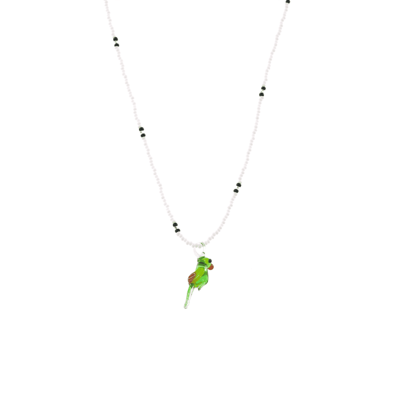 Glass Charm Parrot Necklace - Josephine Alexander Collective