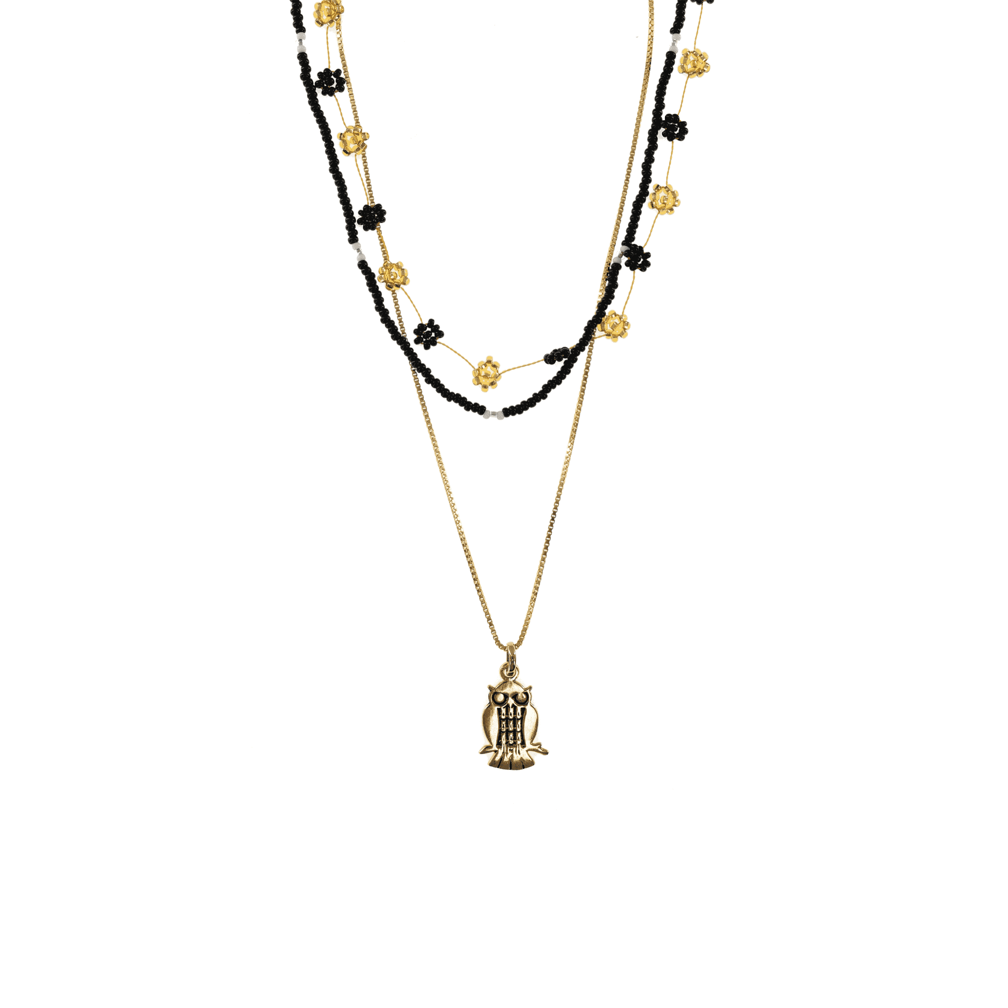 Click to shop - The Gold and Black Owl Stack