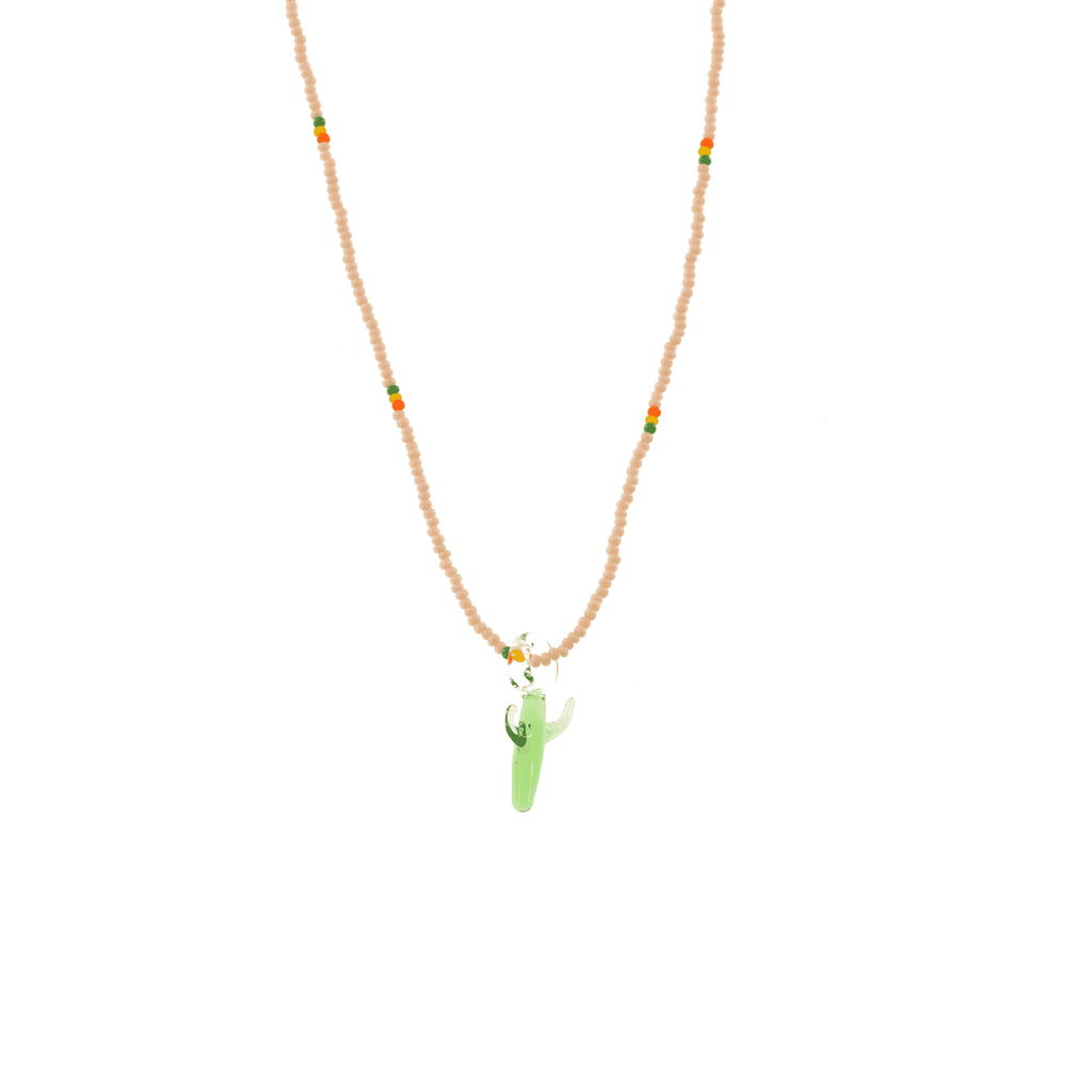 Glass Charm Cactus Necklace - Josephine Alexander Collective