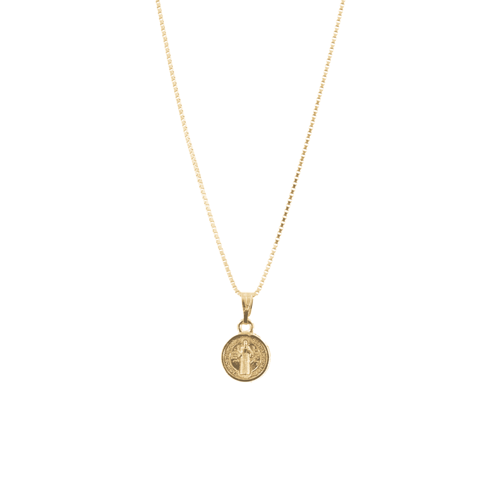 Gold Medal Of St. Benedict Necklace - Josephine Alexander Collective