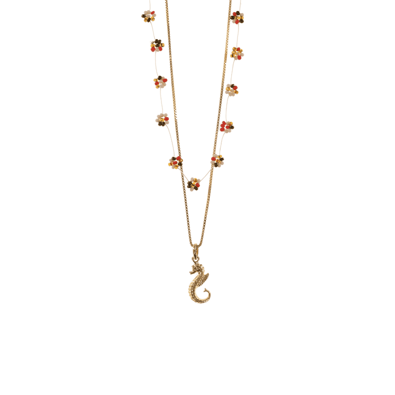 Gold Seahorse Necklace Stack - Josephine Alexander Collective