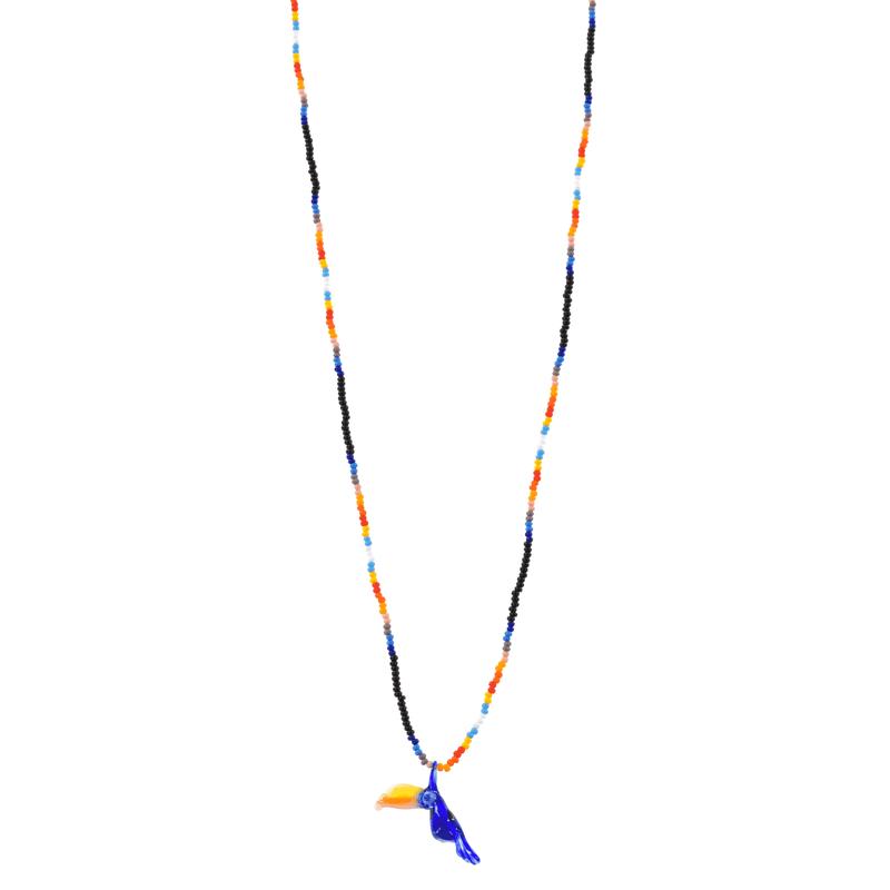 Glass Charm Toucan Necklace - Josephine Alexander Collective