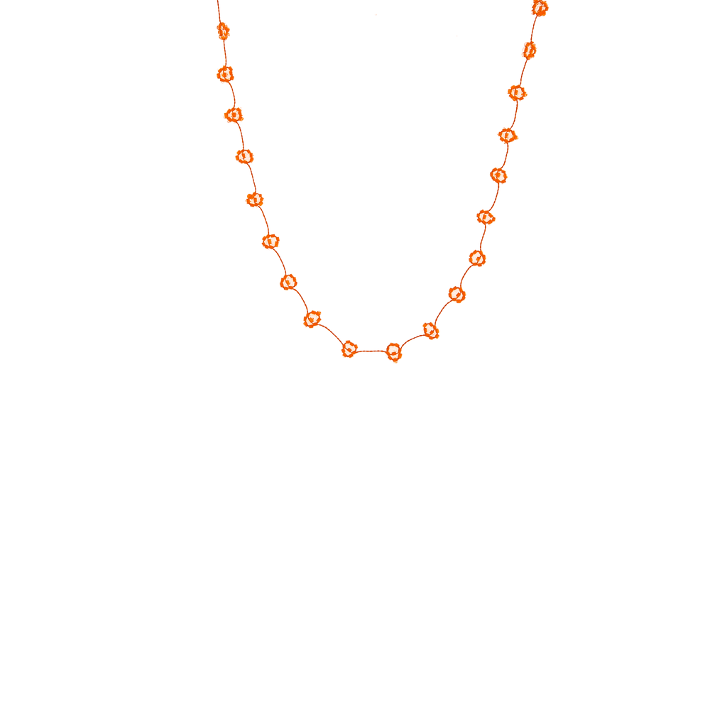 Daisy Chain Necklace in Neon Orange - Josephine Alexander Collective