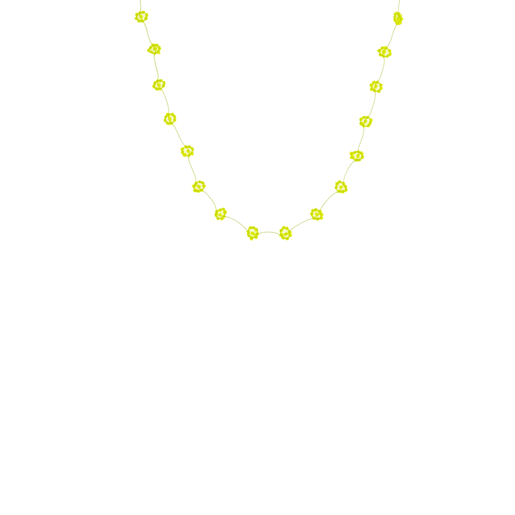 Daisy Chain Necklace in Neon Yellow - Josephine Alexander Collective