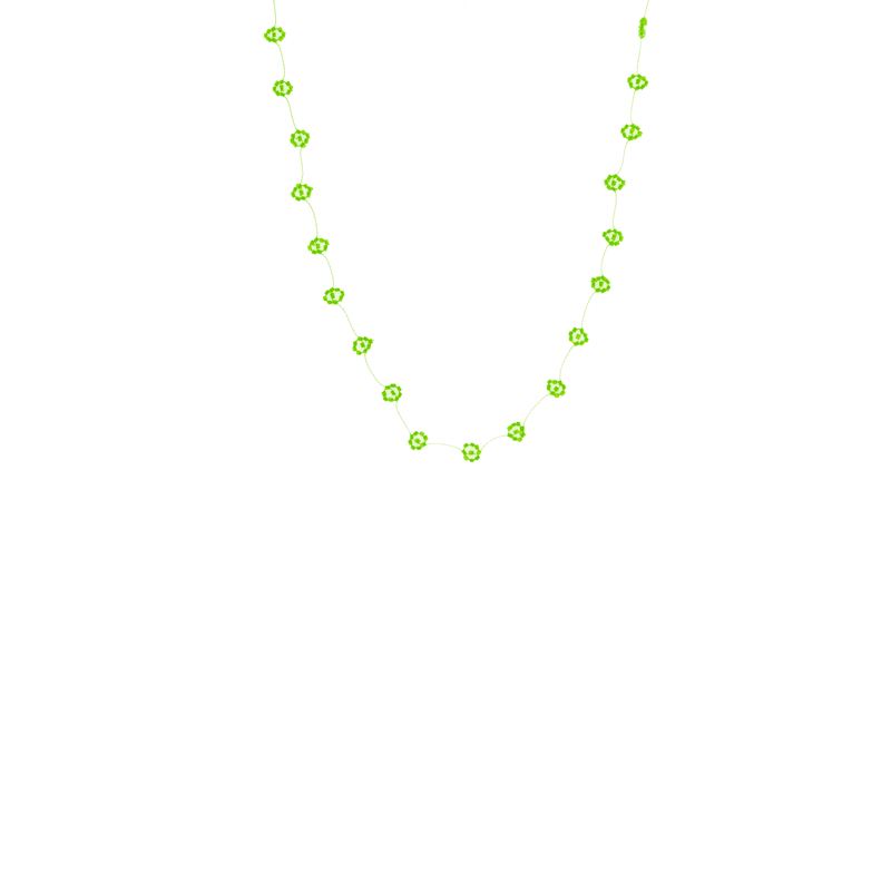 Daisy Chain Necklace in Neon Green - Josephine Alexander Collective