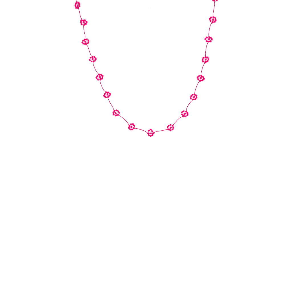 Daisy Chain Necklace in Neon Pink - Josephine Alexander Collective
