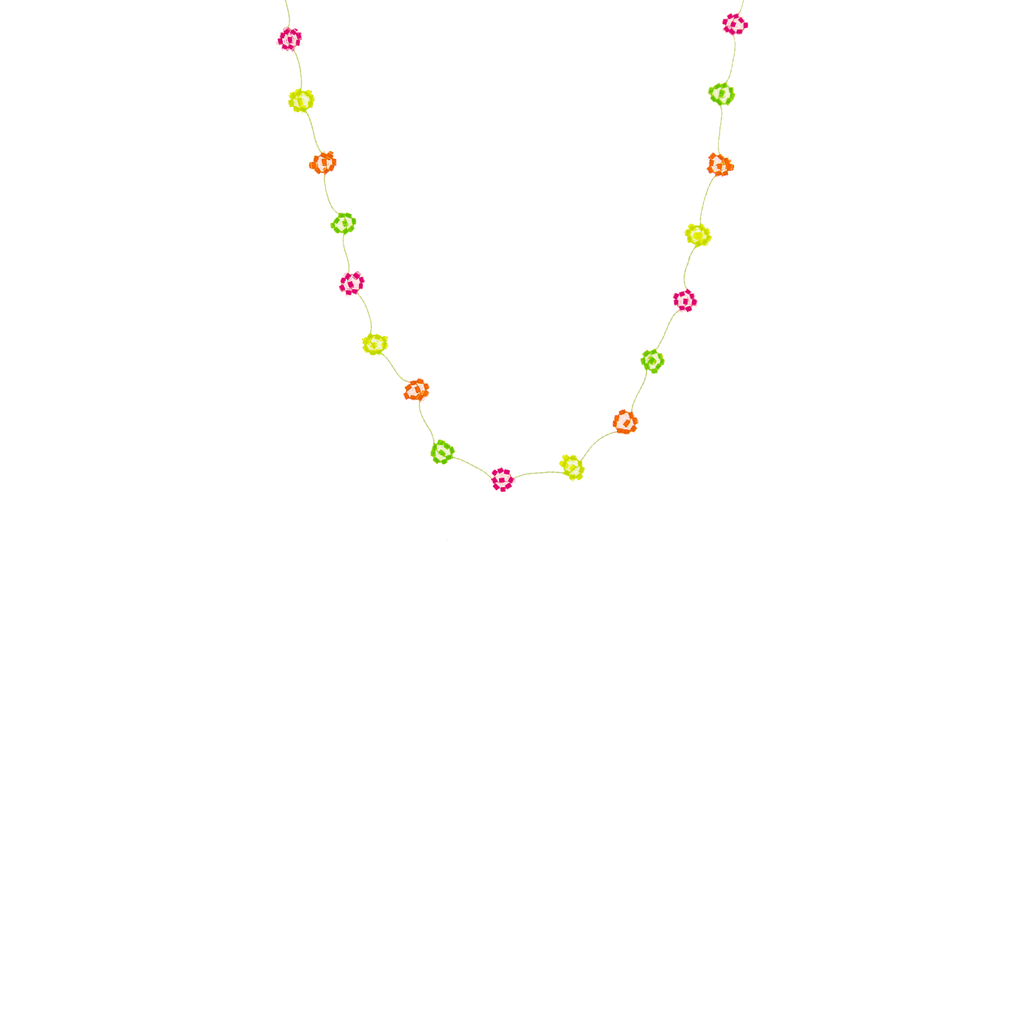 Daisy Chain Necklace in Splash of Neon - Josephine Alexander Collective