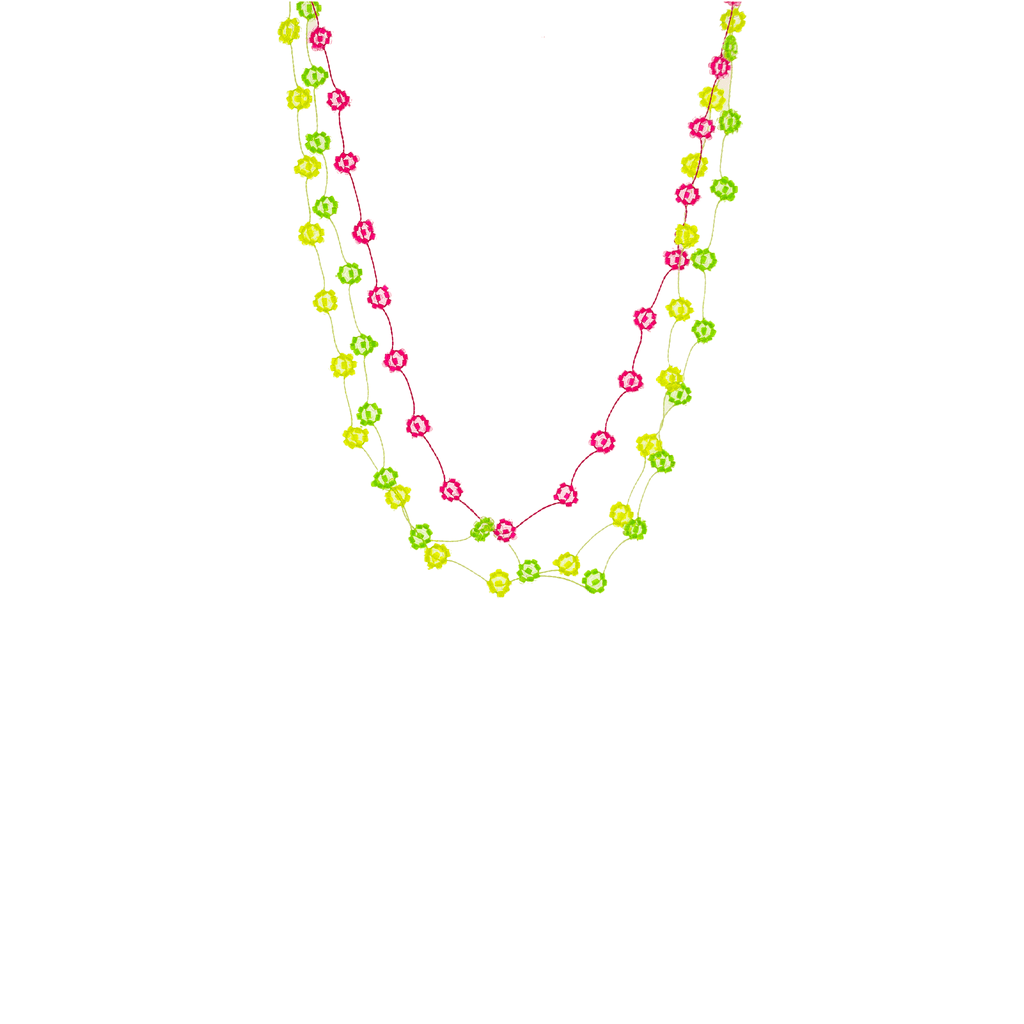 Daisy Chain Necklace Stack in Neon - Josephine Alexander Collective