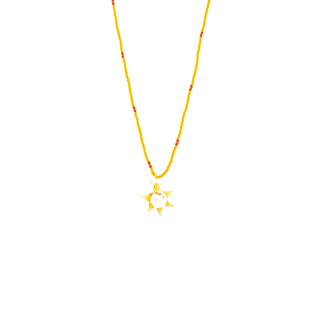 Glass Charm Sun Necklace - Josephine Alexander Collective