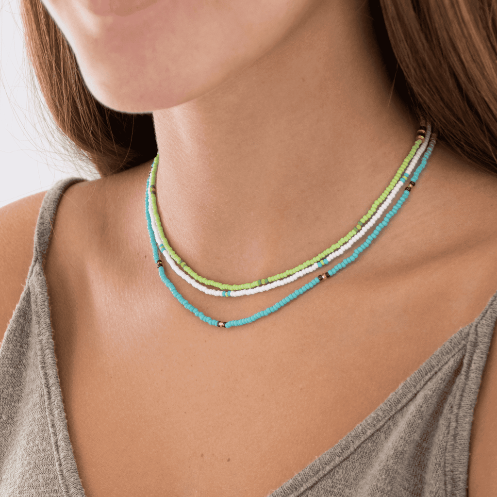 Land & Sea Beaded Necklace Stack - Josephine Alexander Collective