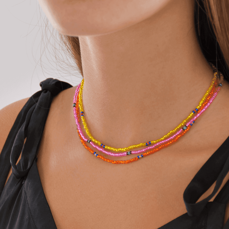 Sherbert Beaded Necklace Stack - Josephine Alexander Collective