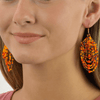 Empire Earrings in Orange Confetti - Josephine Alexander Collective
