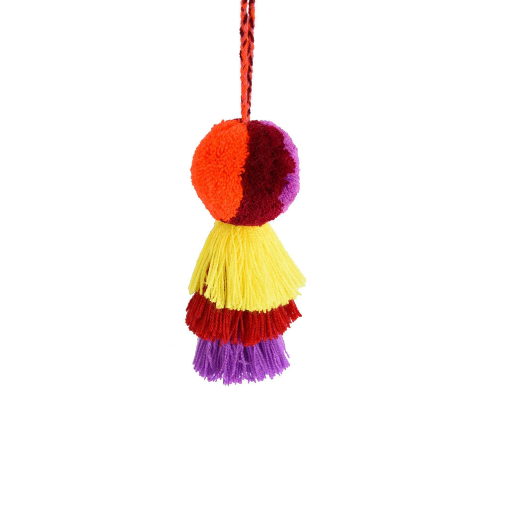Medium Pom Tassel in Orange Lemonade - Josephine Alexander Collective