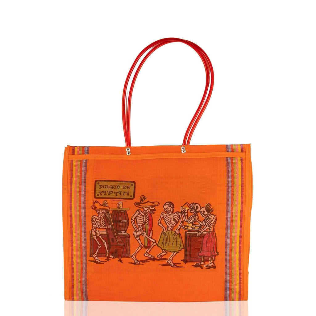 Dia de Muertos Market Bag in Orange