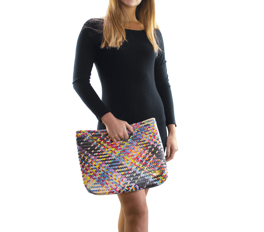 Palma Woven Hand Bag in Oxyn Rainbow - Josephine Alexander Collective
